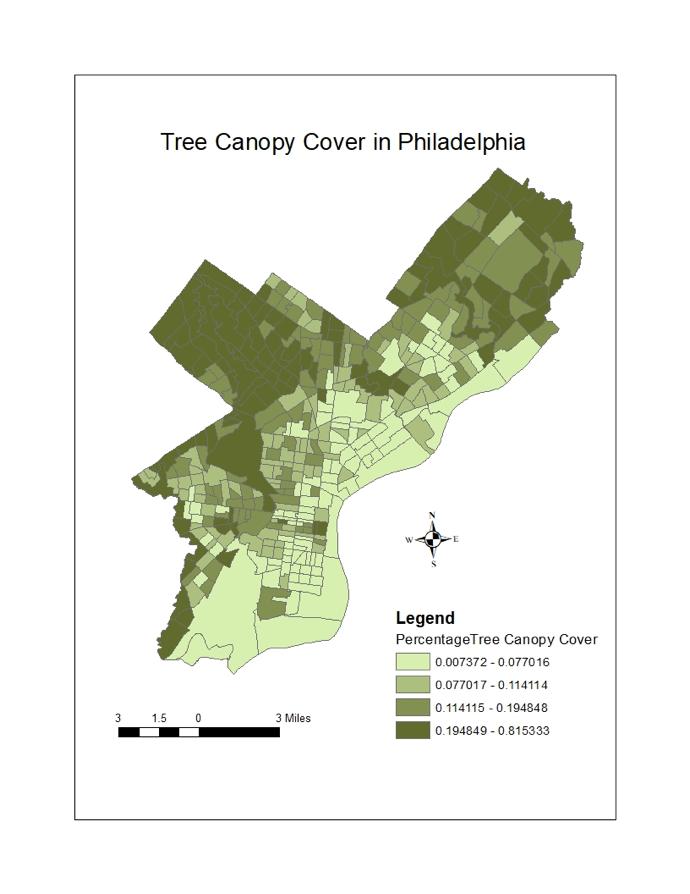 Tree Canopy Cover in Philadelphia