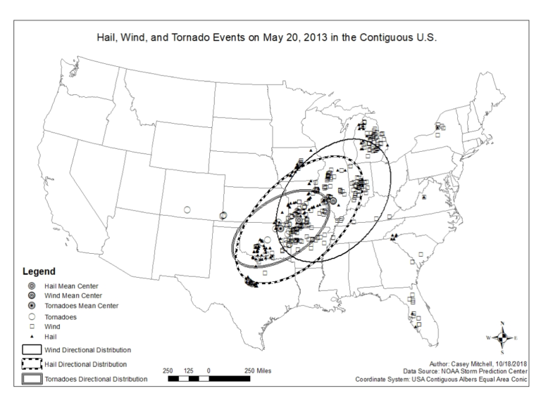 Hail, Wind, and Tornado Events on May 20, 2013