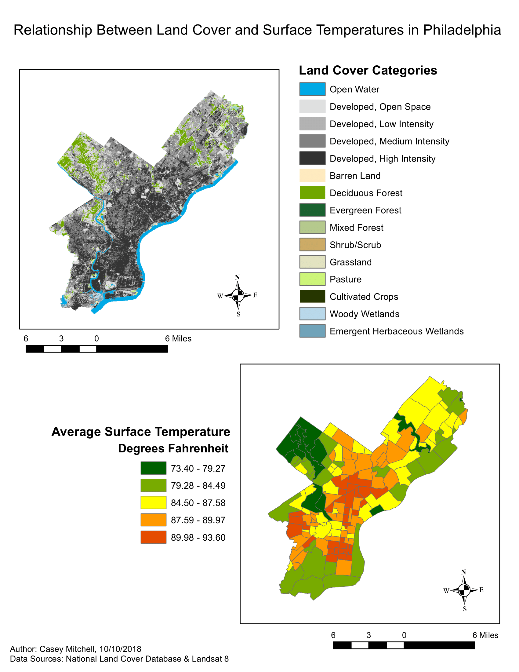 Relationship Between Land Cover and Surface Temperatures in Philadelphia