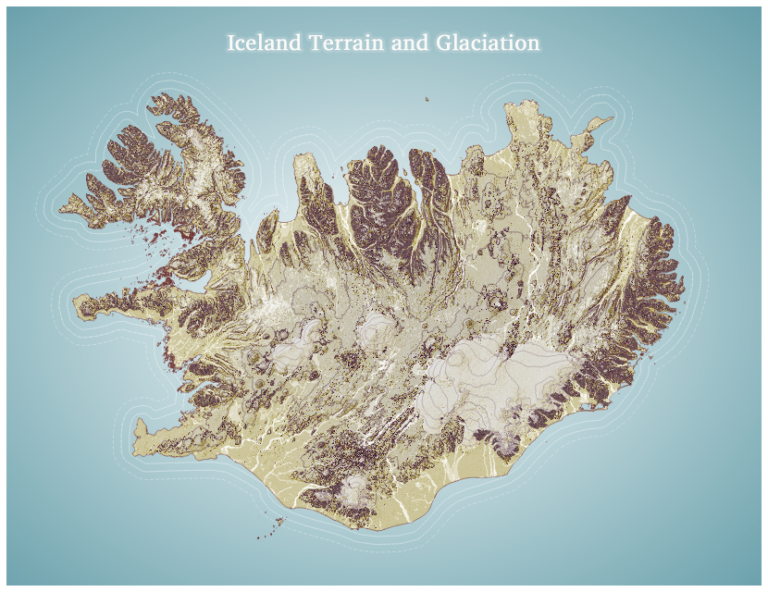 Iceland Terrain and Glaciation