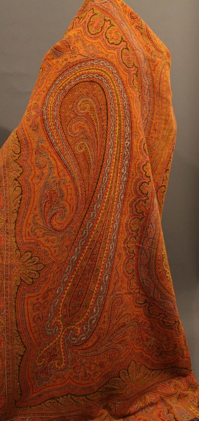 colorful paisley shawl, wool