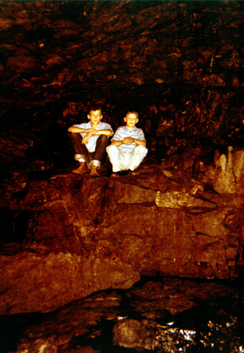 Brother Rick and me in Anenome Cave.