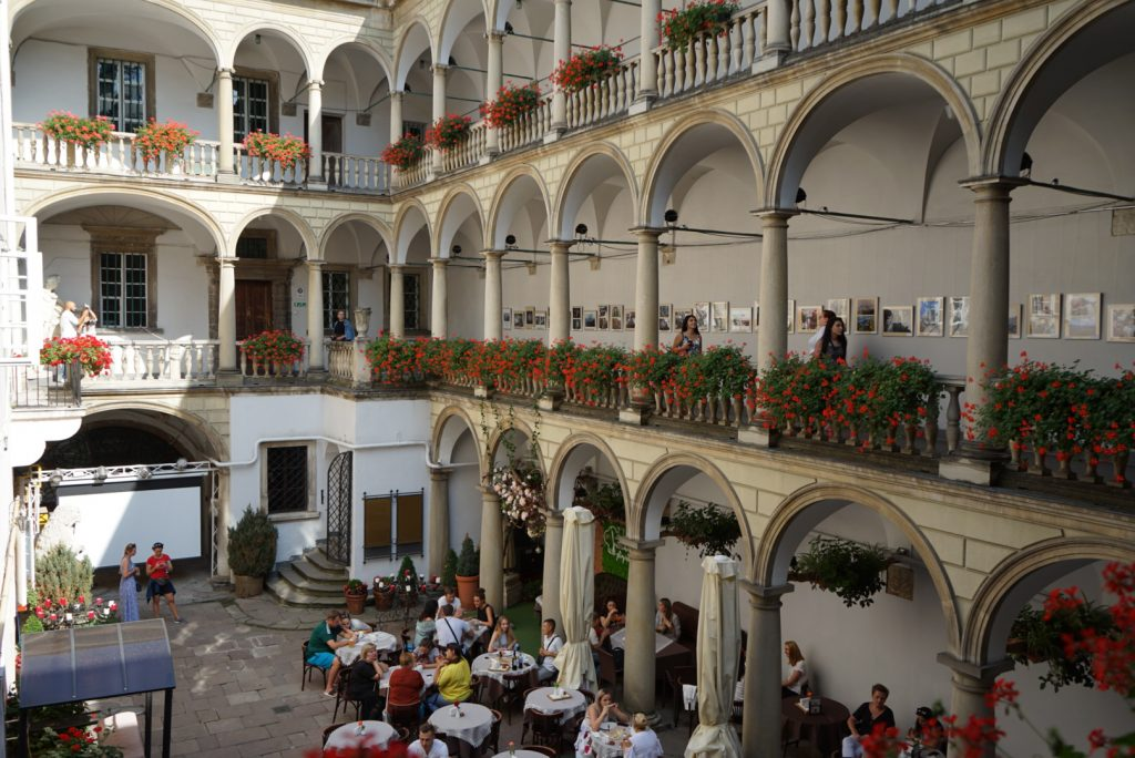 Italian courtyard in Lviv