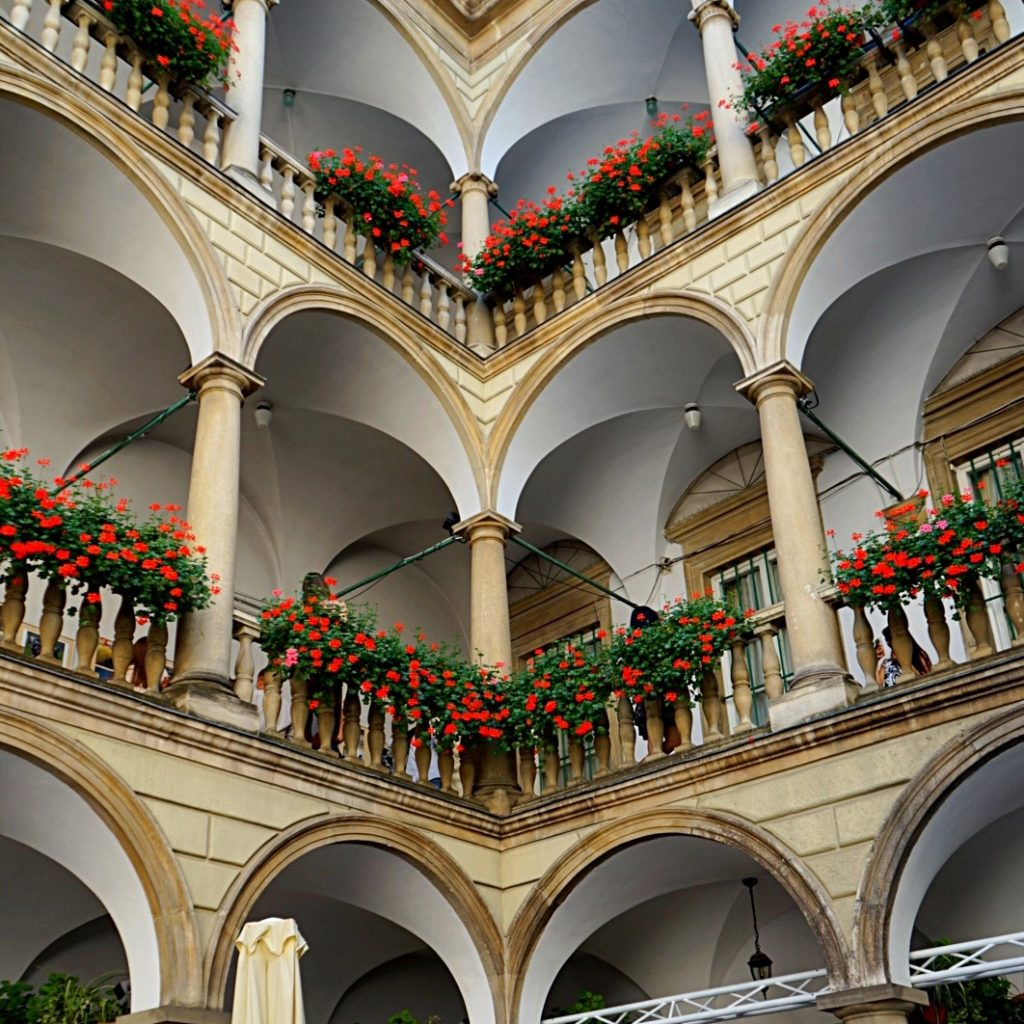 Italian courtyard as a part nof Lviv museums