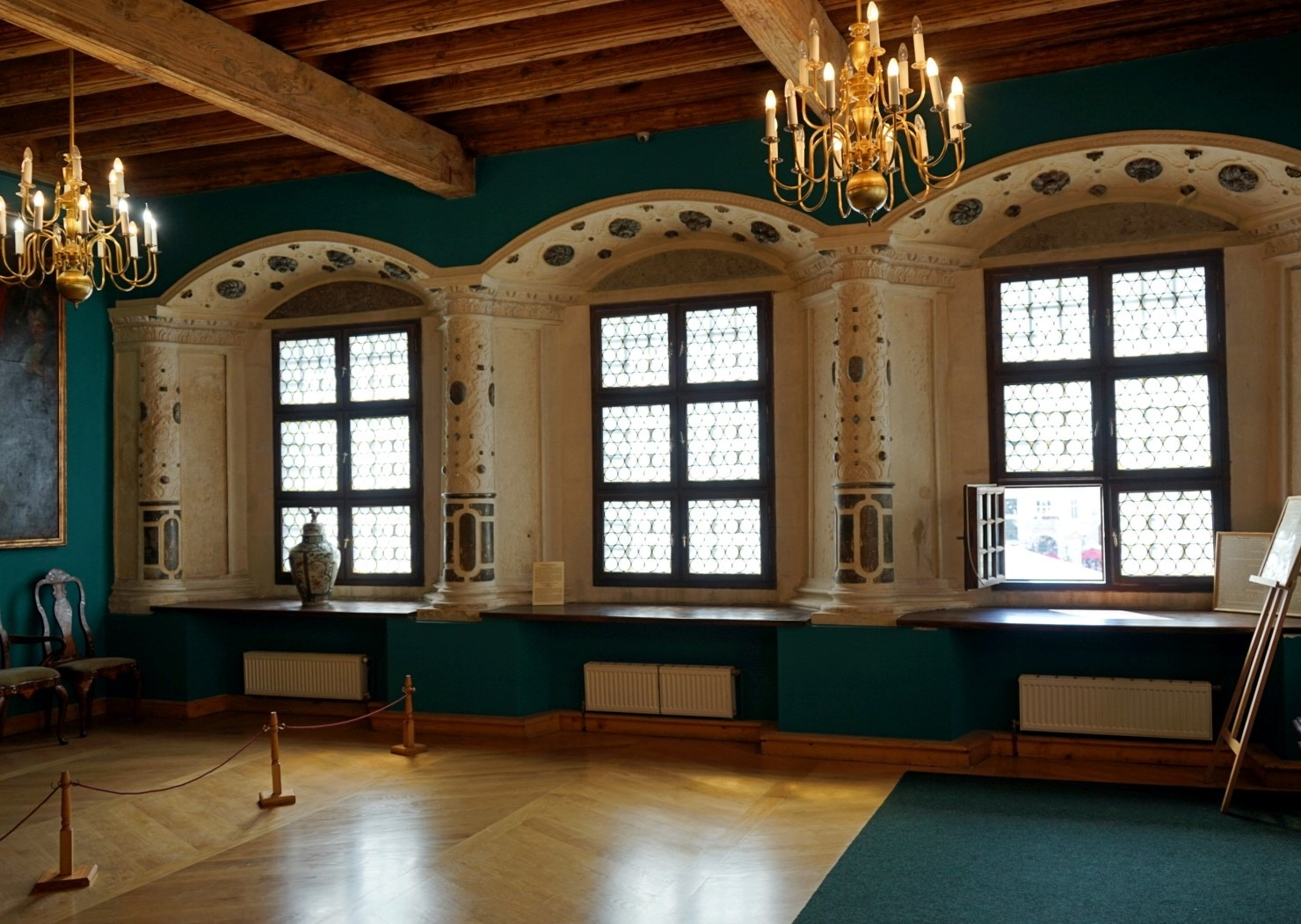 The exhibition hall in Lviv museum - Bandinelli palace