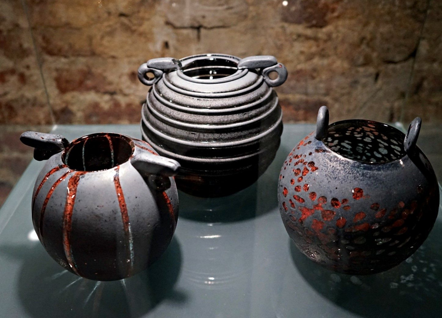 The exhibition in museum of glass