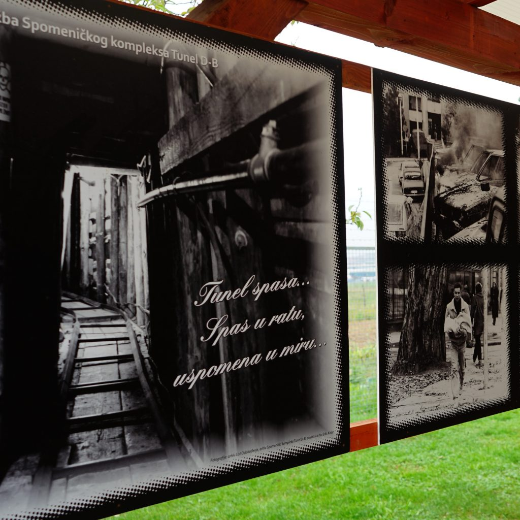 Photo exhibition in a war museum