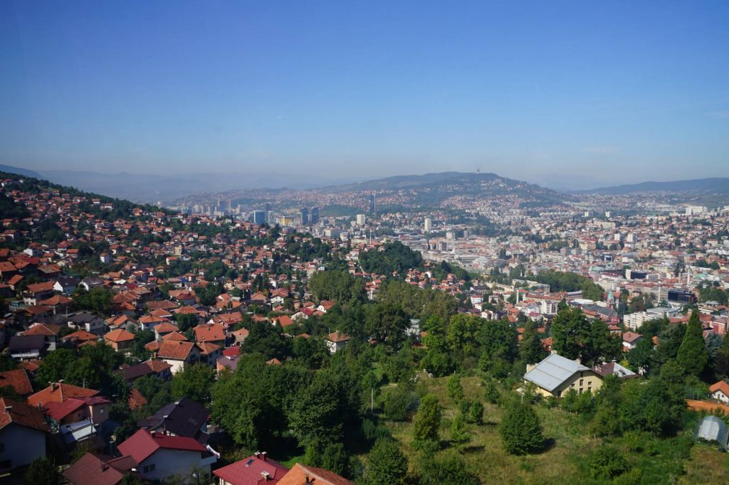 Sarajevo from the top of Trebevich mountain