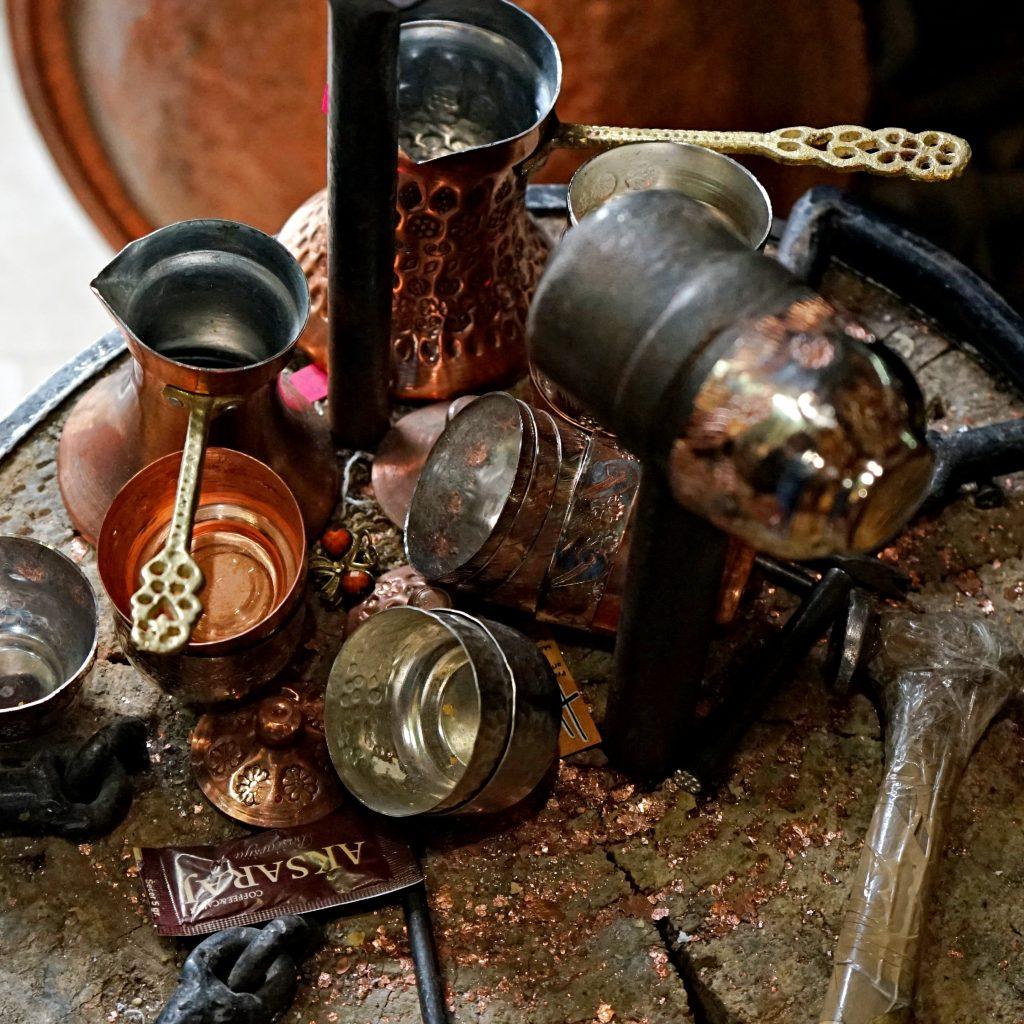 The copper souvenirs workshop in Sarajevo