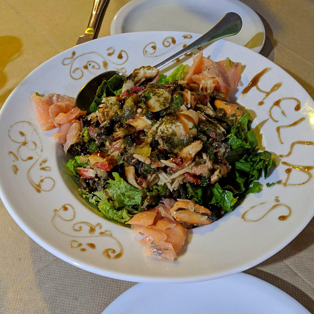 Perfect Fish Salad at Hellas Restaurant
