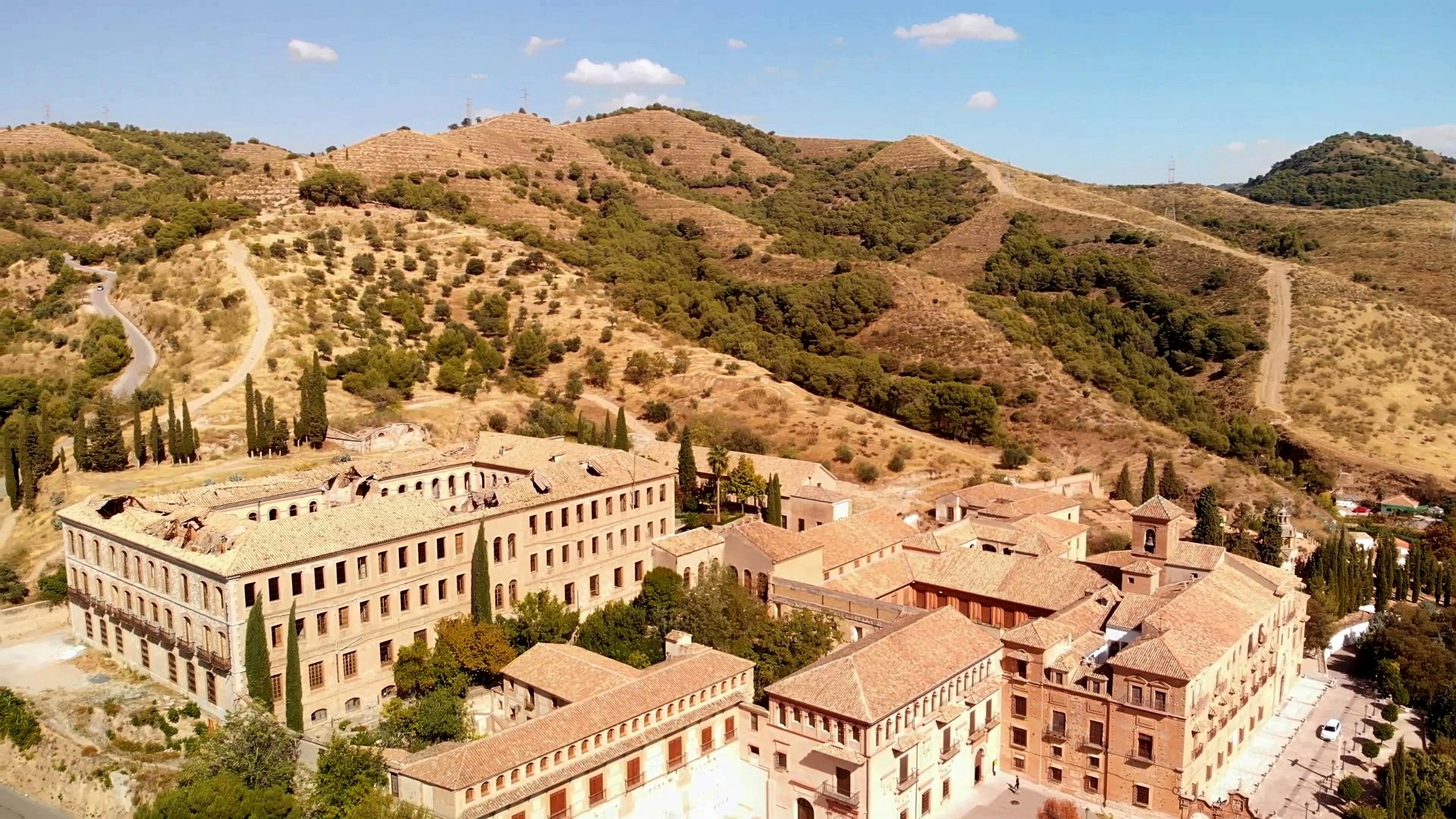 Drone picture of the Sacromonte Abbey