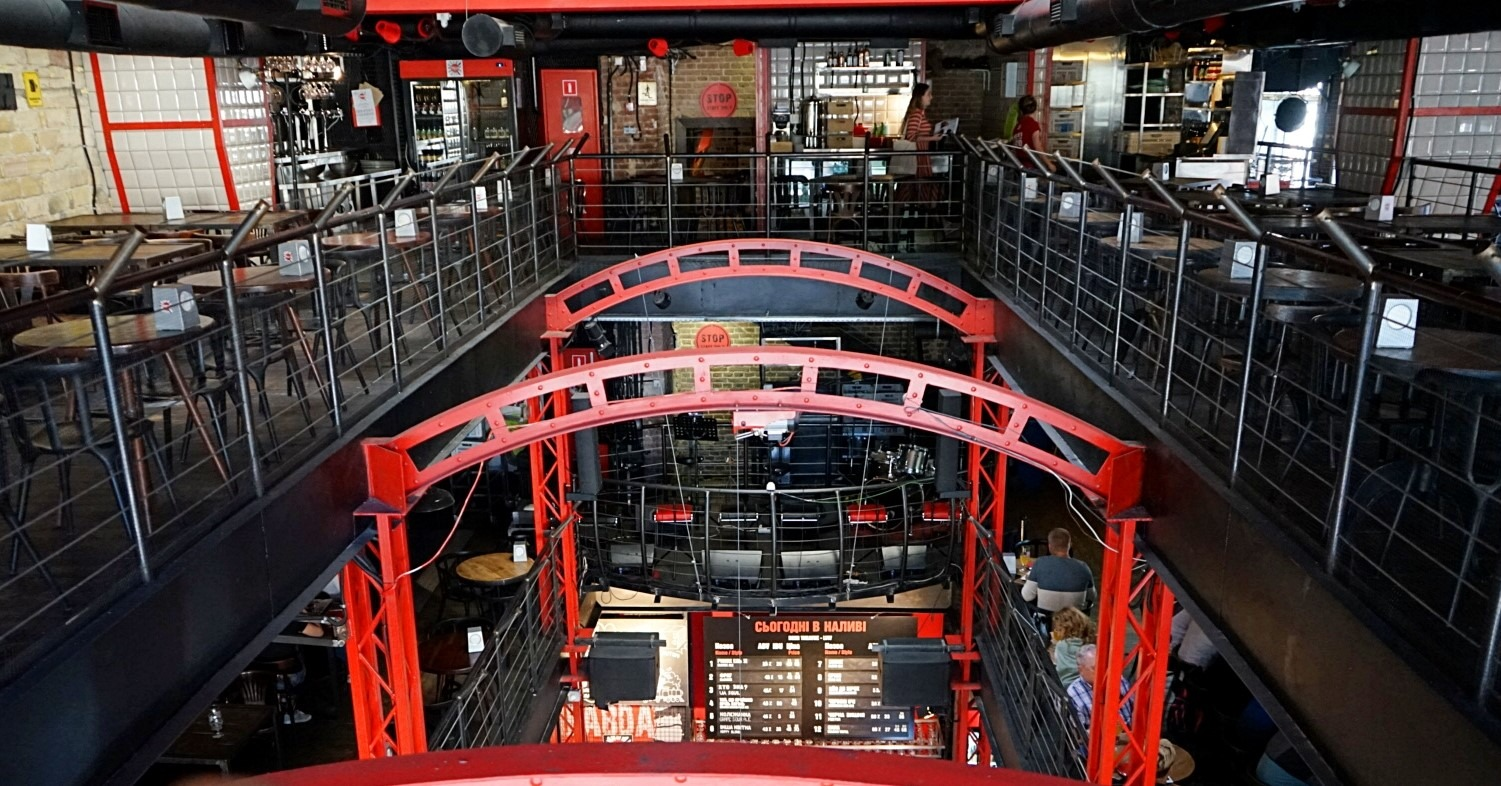 The third floor of the beer theater