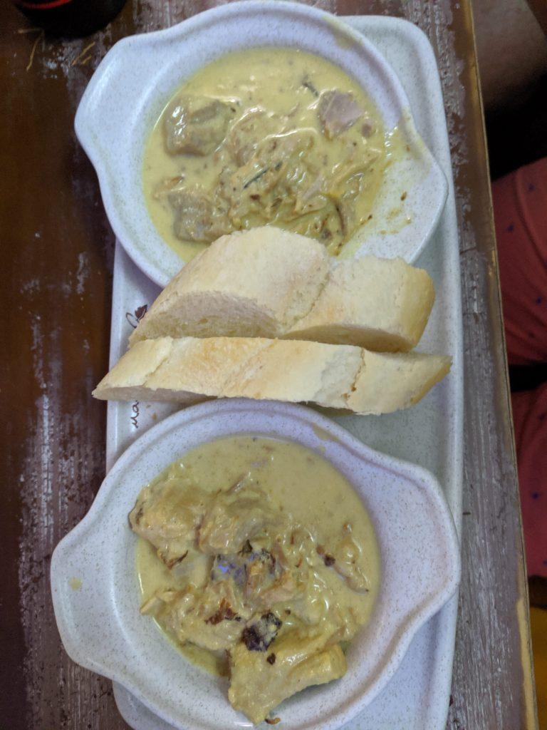 chicken in a cream souse tapas in Granada bar
