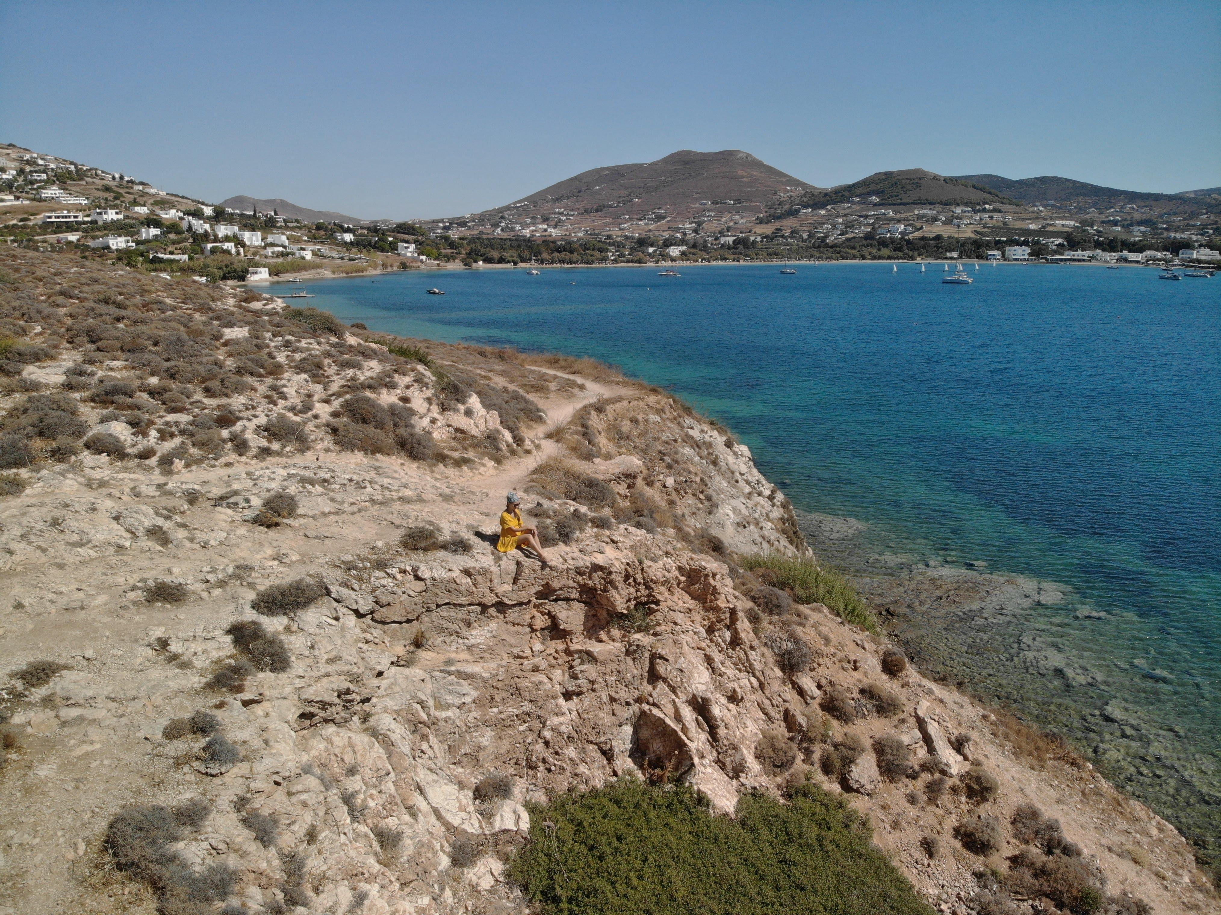 Trail from Parikia to Krios and Marcello beaches