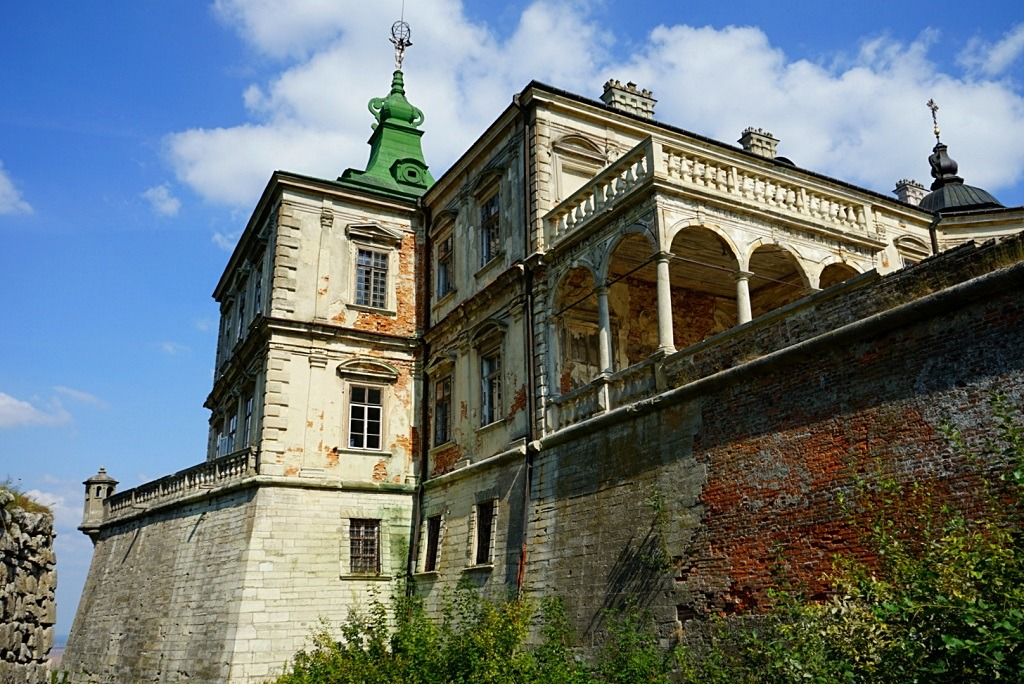 one of the castles of lviv located just an hour outside the city center