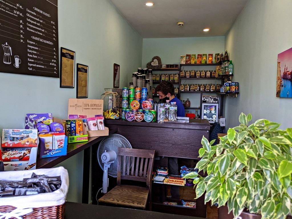 Castle Coffee inside