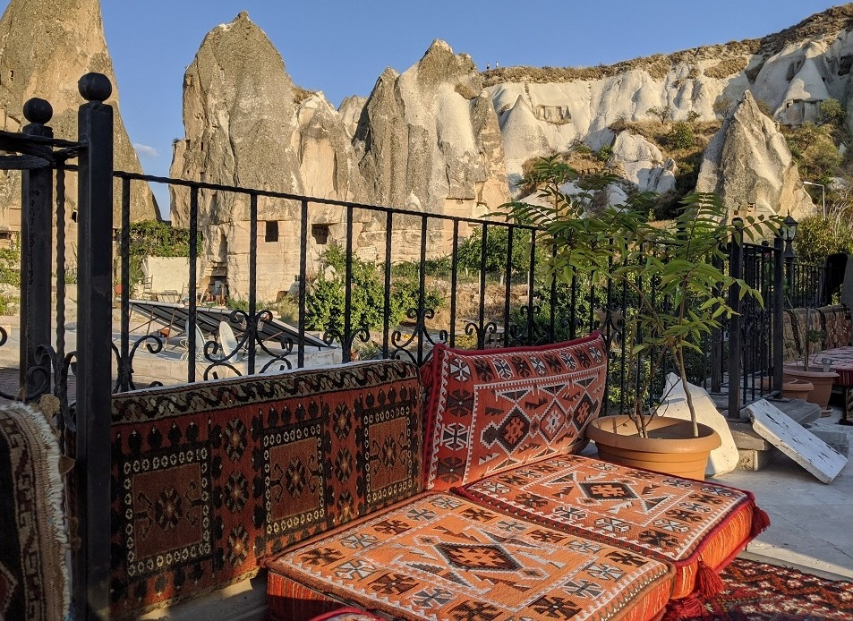 Top Roof Terrace of our hotel in Goreme