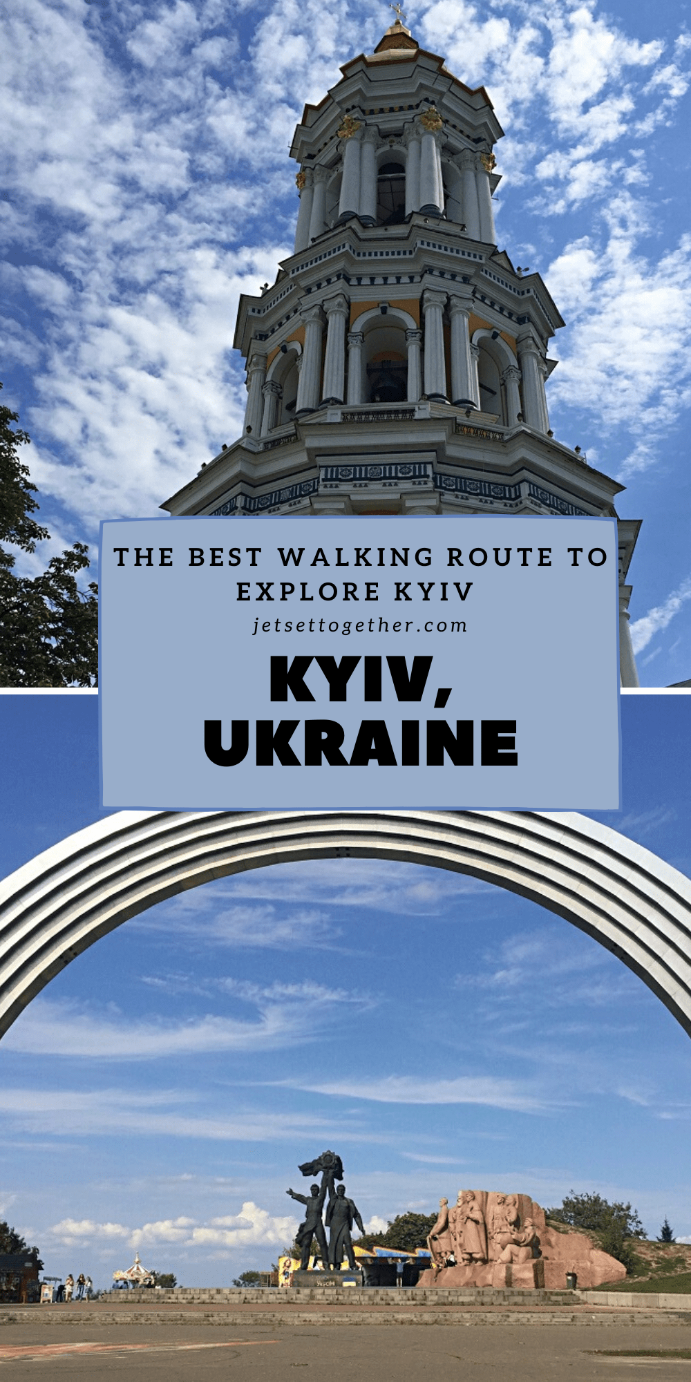 best self guided walking tour of kyiv pinterest pin