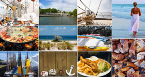 Lovers Key Boat Show, Market & Seafood Fest collage