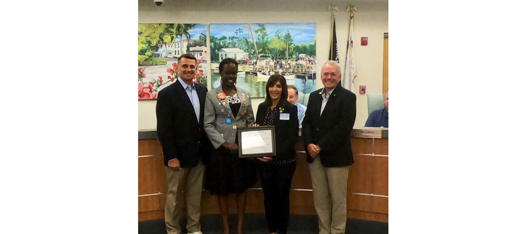 Bonita Springs Mayor Simmons welcomes Natene Bwaya from Uganda
