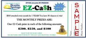 EZ-Ca$h ticket sample