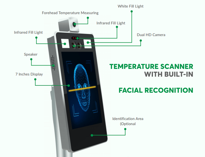 Zenscan Temperature Scanner with Built-in Facial Recognition