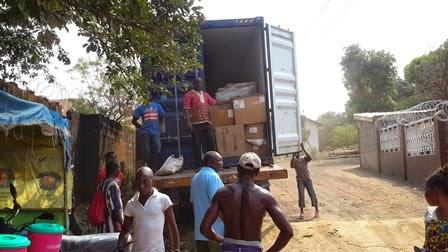 Ebola Aid Arrives