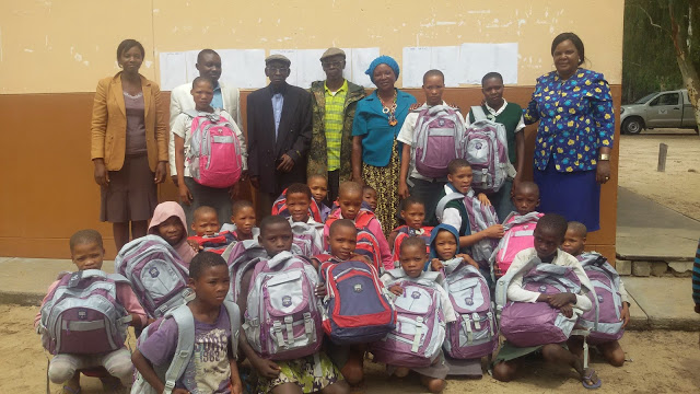 Namibia- Community Attends ENA's Presentation of School Supplies