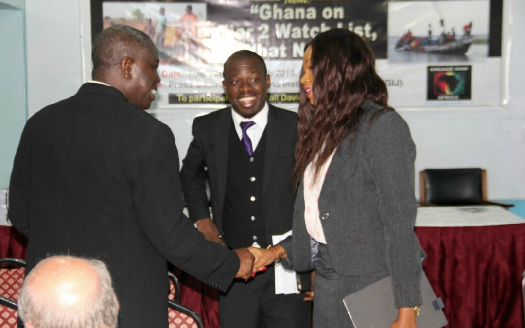Anti-Human Trafficking Press Event Makes National News and Headlines in Ghana