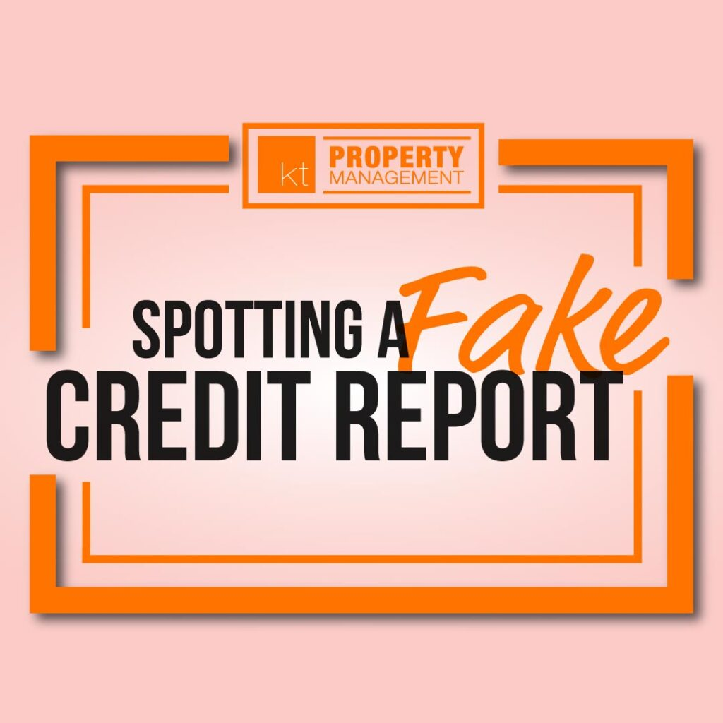 Spotting a fake credit report