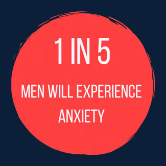 1 in 5 men will experience anxiety