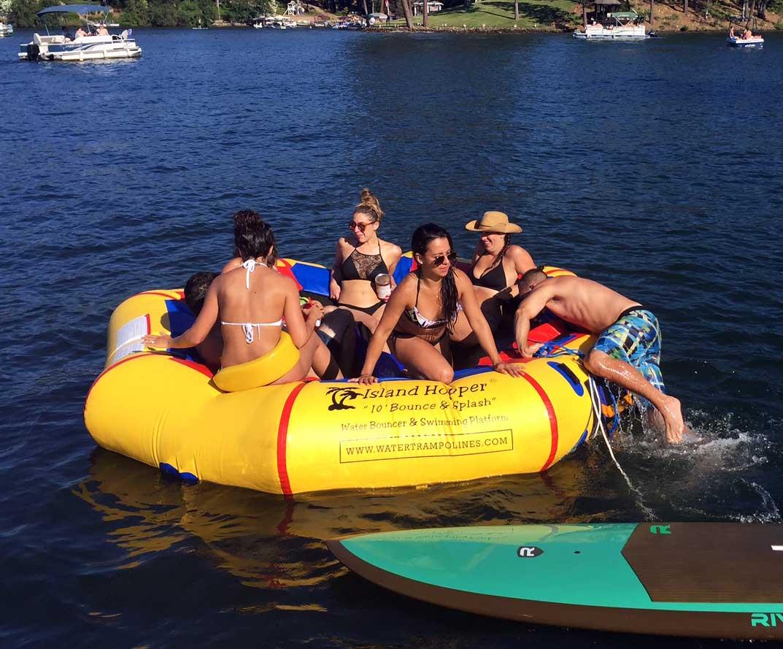 4th of july Island Hopper water bouncer fun.