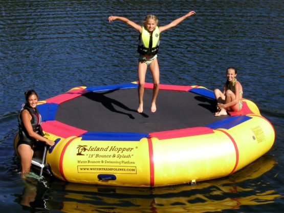 13 Foot Island Hopper Bounce N Splash Water Trampoline