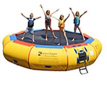17 Foot Island Hopper Bounce N Splash Water Trampoline