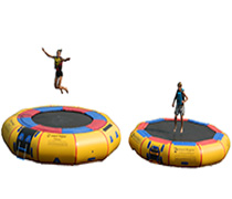 water trampoline vs water bouncer
