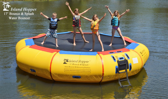 17 Foot Island Hopper Bounce N Splash Water Trampoline
