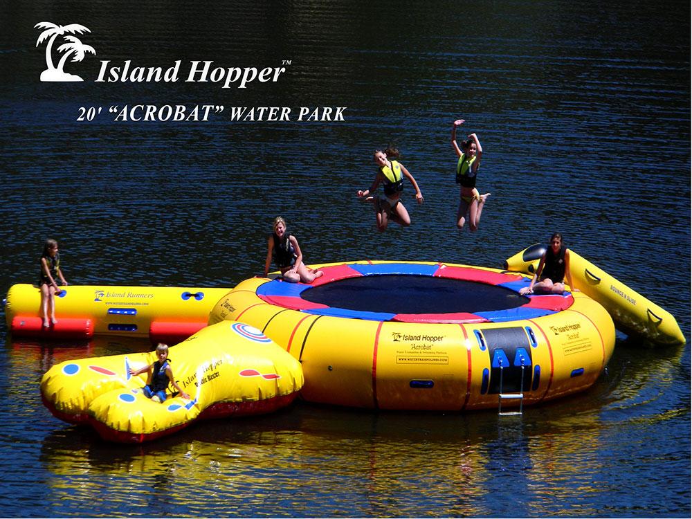 20 Foot Island Hopper Acrobat Water Trampoline