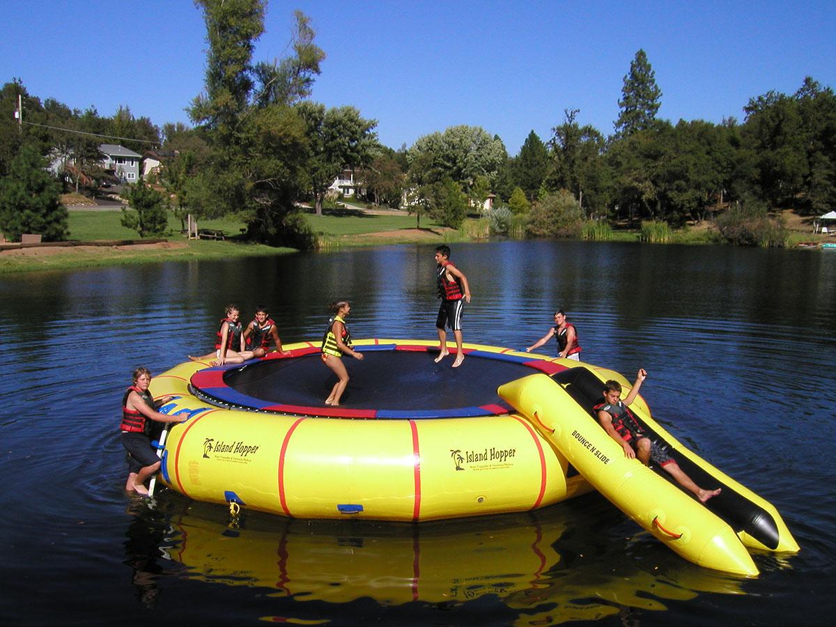 25 Foot Island Hopper Giant Jump Water trampoline