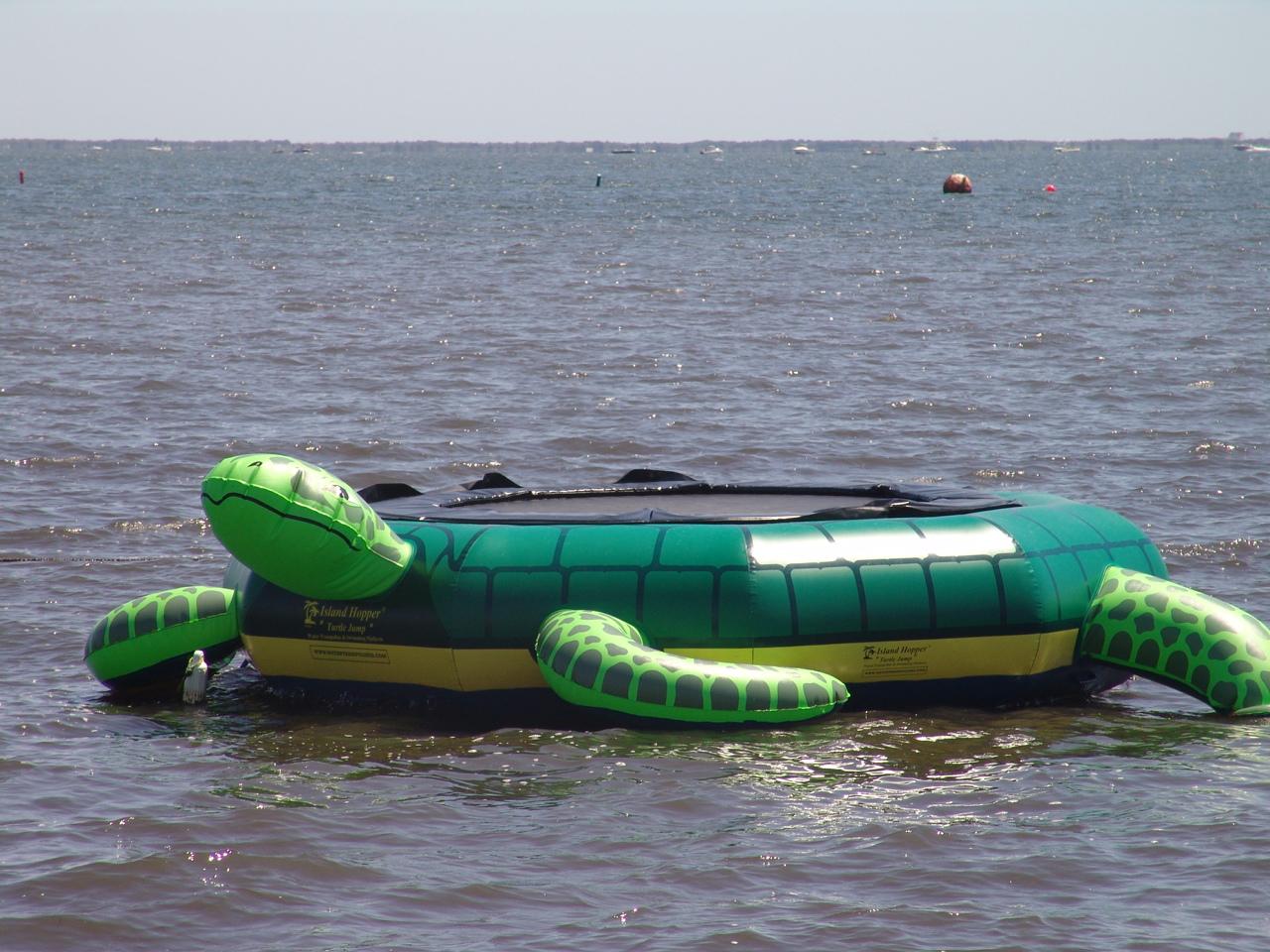 Island Hopper Turtle Jump Water Trampoline