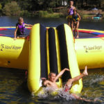 Island Hopper Bounce N Slide Water Trampoline