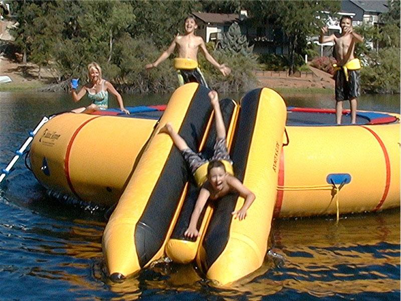 Island Hopper Bounce N Slide Water Trampoline