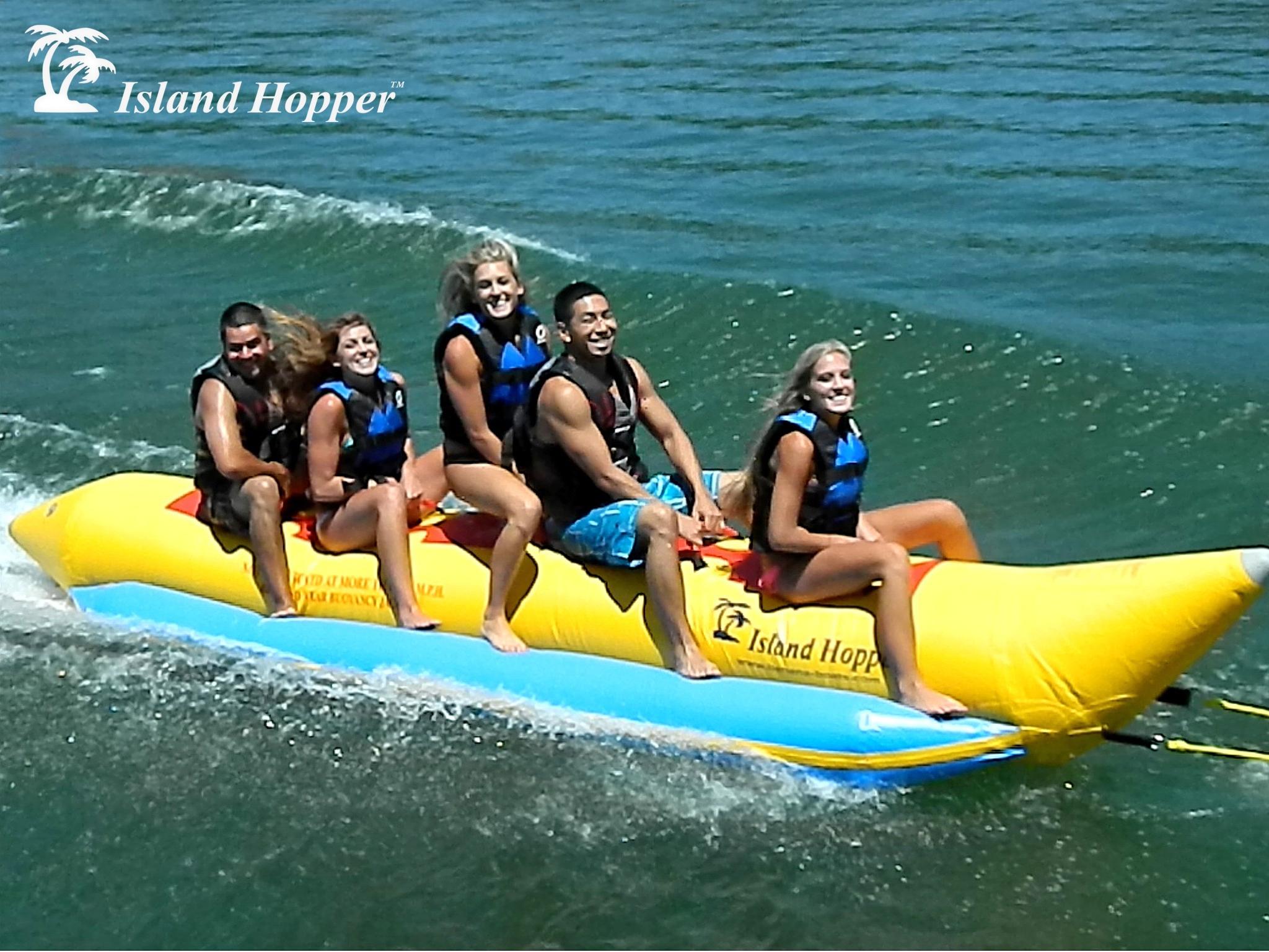 Island Hopper 5 Person Inflatable Banana Boat