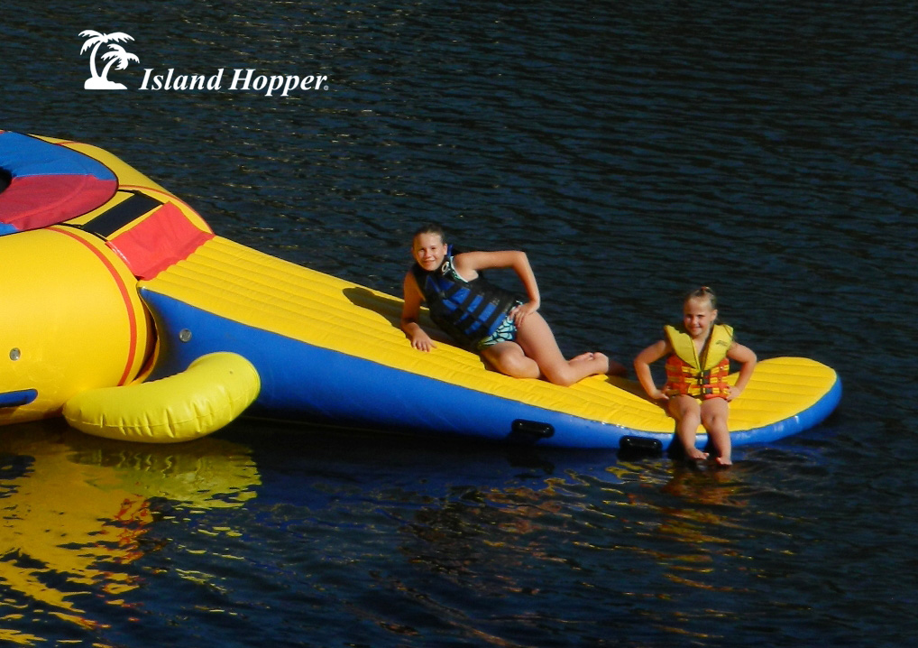 Island Hopper Gator Tail Water Trampoline Slide Attachment