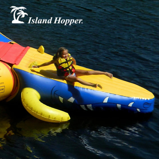 Island Hopper Gator Head Water Trampoline Attachment