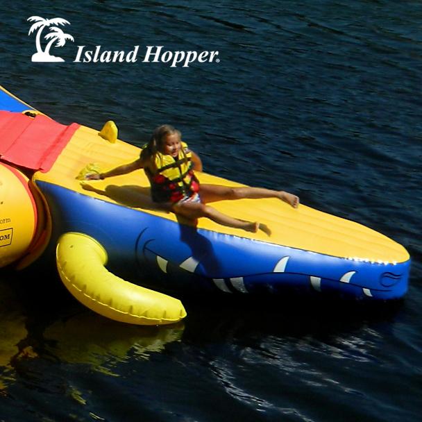Island Hopper Gator Head Water Trampoline Attachment
