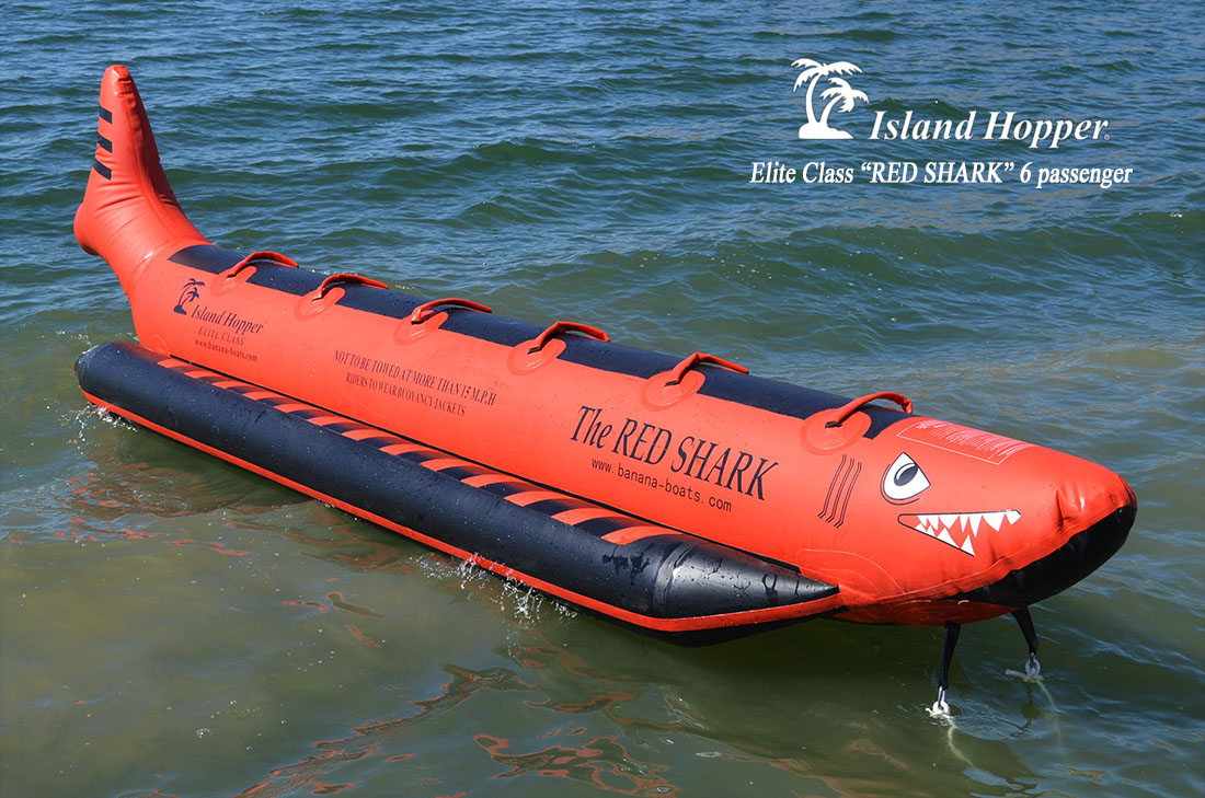 Island Hopper The Red Shark Inflatable Banana Boat