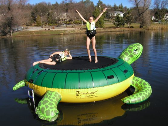 Island Hopper Turtle Hop Water Trampoline