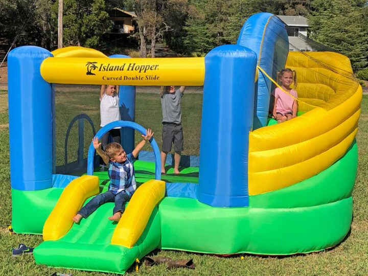 curved bounce house