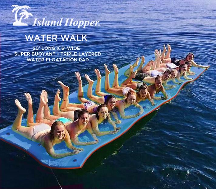 island hopper water walk floating foam mat