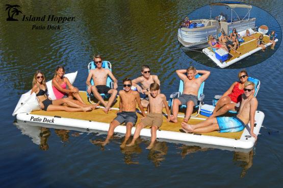 island hopper patio dock inflatable dock